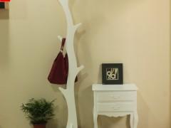 宜家现代简约落地衣帽架 时尚创意树枝挂衣架 田园纯白衣架