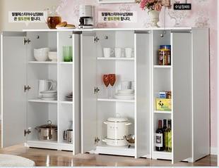 特价餐边柜储物柜简易橱柜柜子带门收纳柜阳台储物柜