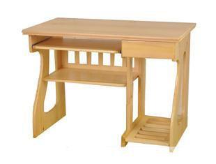 宜家正品实木电脑桌樟子松电脑桌台式学习桌家用电脑桌写字台