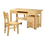 唯克美家 松木家具 实木家具 电脑桌 学生桌 实木书桌H-078图片