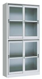 晟昂SA-WJG04上下玻移门柜资料柜金属办公家具玻璃移门柜文件柜