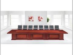 Hiboss实木会议桌(成周)油漆办公桌高档洽谈桌开会桌HI-T11C8234S