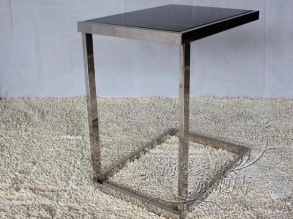 尚琴钢化玻璃不锈钢小茶几客厅沙发角几 电话几边几特价645