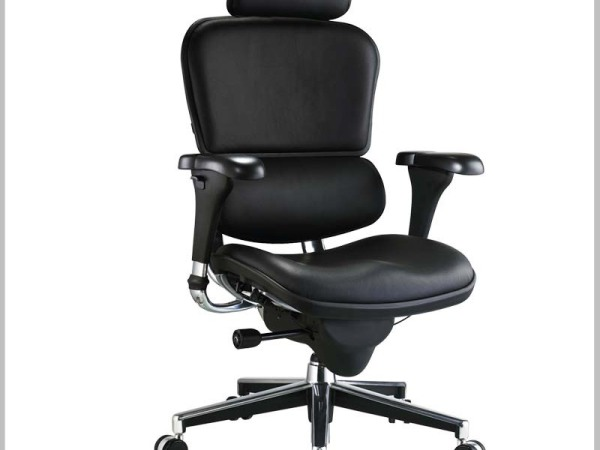 hiboss 真皮老板椅特价大班椅办公椅可倾仰电脑椅休闲椅椅子