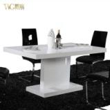 VVG新品大促 高档家具 现代简约白色钢琴烤漆餐桌/餐台/饭桌 现货图片