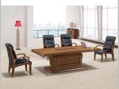 HiBoss实木会议桌鸡翅木色桌时尚洽谈桌办公桌现代会客桌HI104C24