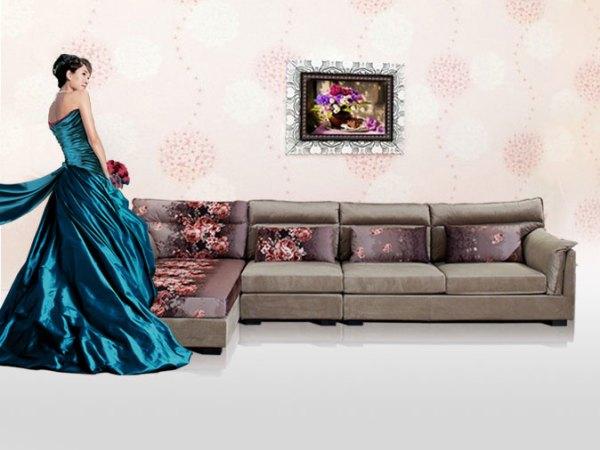 华日家居麦斯威尔现代简约高档组合转角大客厅沙发休闲时尚沙发