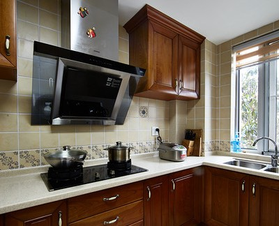 美式4平米厨房橱柜大全