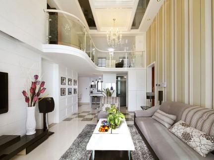 时尚家装中空客厅效果图 - 良工装饰