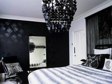 家装卧室黑色壁纸设计