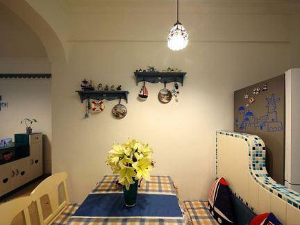 地中海家居餐厅背景墙装饰效果图