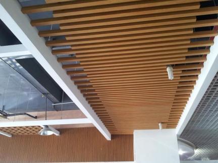 餐厅室内木吊顶图片