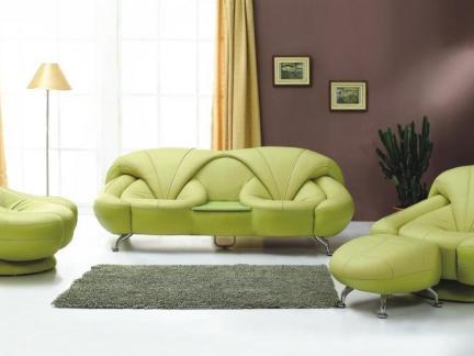 客厅绿色家具沙发图片