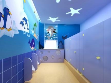 儿童学校卫生间装修效果图图片