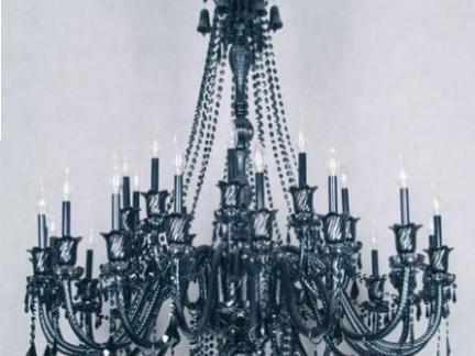 欧式铁艺吊灯实景图片
