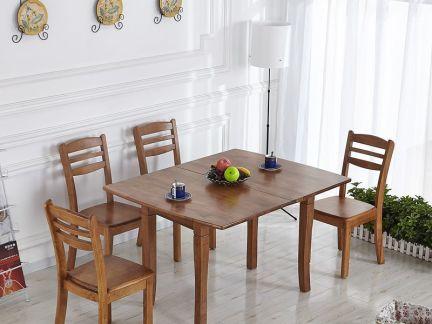 板式家用实木餐桌图片