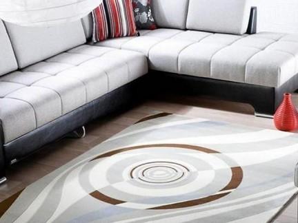 简约客厅红叶地毯图片