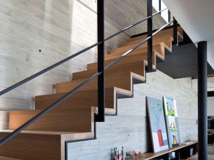 现代风格家庭室内楼梯设计图