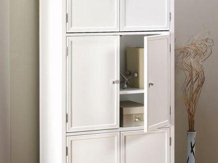 白色简欧家用储物柜图片