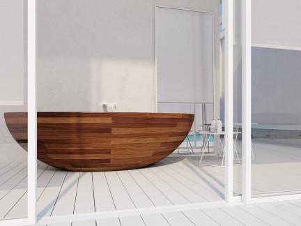 木浴缸图片