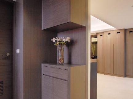 现代简约进门鞋柜设计室内效果图