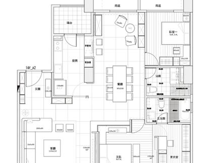2017三居室建筑平面图 房天下装修效果图