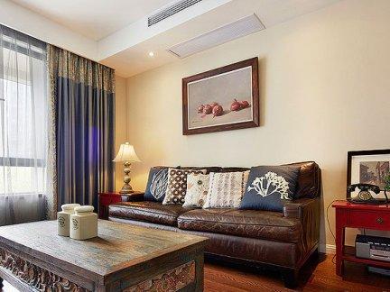 中式田园风格客厅装修效果图片
