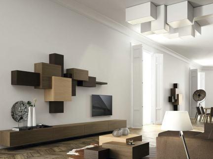 简单时尚客厅电视背景墙