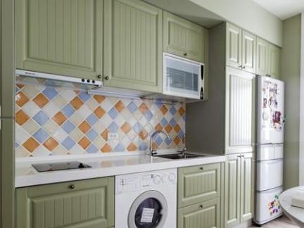 一字型厨房橱柜图片欣赏-搜房网装修效果图