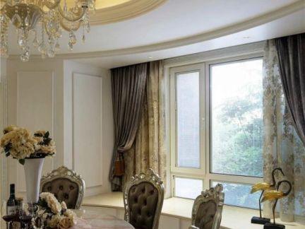 欧式家装餐厅窗户设计效果图-2018欧式假窗户装修效果图 房天下装修