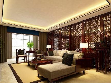 中式家装设计客厅效果图大全