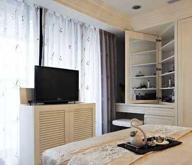 简欧家庭卧室窗帘效果图