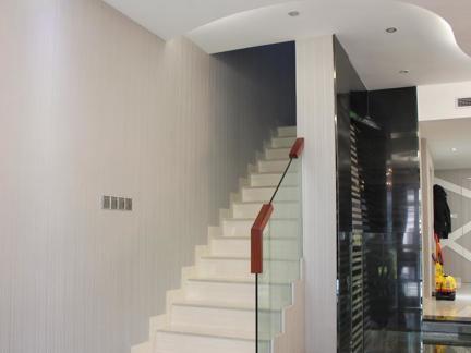 2017复式楼不锈钢楼梯装修效果图 房天下装修效果图
