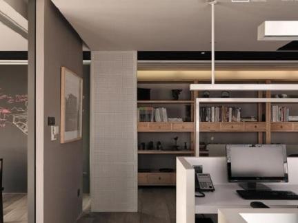 中式风格室内隔断家装效果图