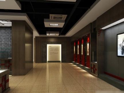 3d书画展厅设计效果图图片