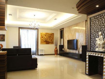 120平客厅装修效果图 房天下装修效果图