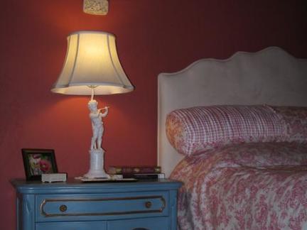 欧式台灯卧室图片