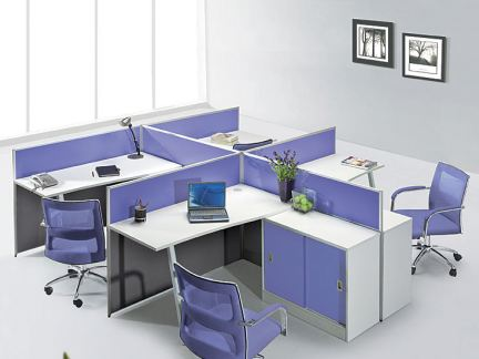 隔断屏风式办公桌图片