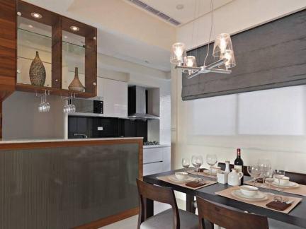 北欧风格餐厅厨房隔断柜