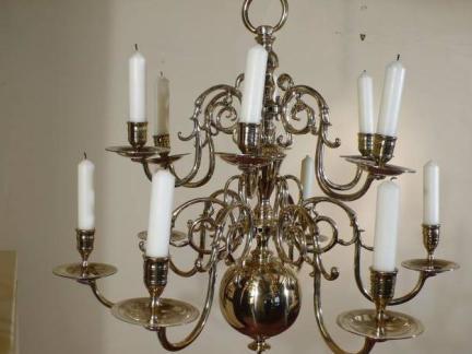 古典欧式铁艺吊灯图片