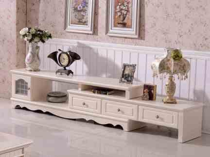 白色欧式组合电视柜设计