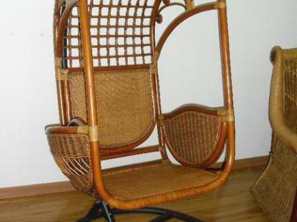 室内木制吊篮椅图片