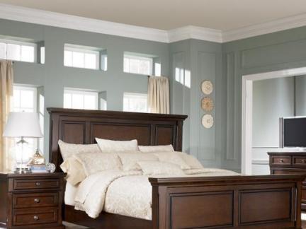 美式实木板式家具卧室图片