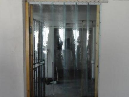 室内门塑料门帘效果图