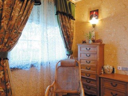 卧室双层窗帘 - 实创装饰