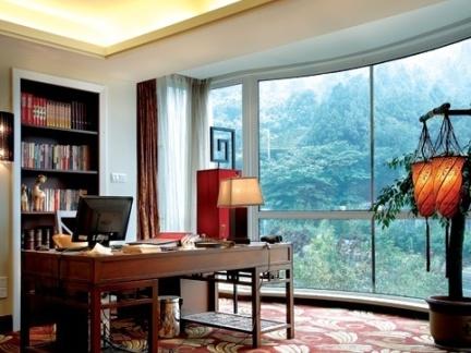 书房装修效果图大全2012图片 简约中式书房装修效果图