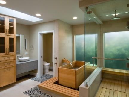 木浴缸浴室装修