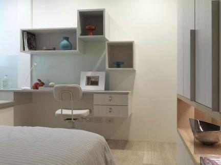 卧室书桌书柜设计图