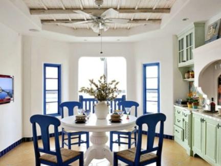 地中海装修设计餐厅图片
