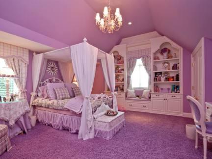 紫色豪华公主卧室设计